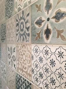 leroy merlin haussmann carreaux ciment pinterest With carrelage adhesif salle de bain avec bougies led casa