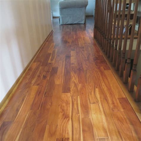 Solid Acacia Stain Smooth Prefinished Traditional