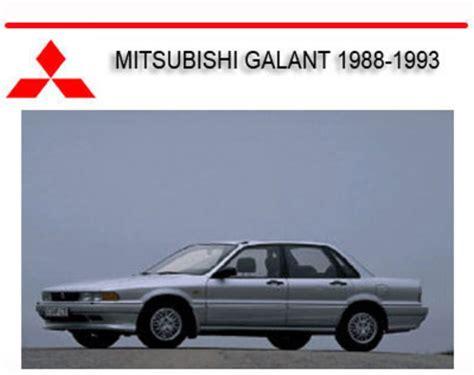 auto body repair training 1994 mitsubishi galant engine control mitsubishi galant vr4 1988 1993 repair service manual download ma