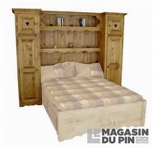 Pont De Lit 160 : meuble complet pin massif pont de lit 160 cm le magasin du pin ~ Teatrodelosmanantiales.com Idées de Décoration