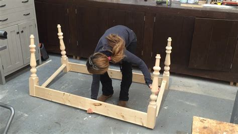 kitchen island table legs how to build a farmhouse table part 1 table base with