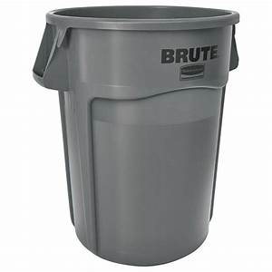 Rubbermaid Commercial Products Brute 44 Gal Grey Round