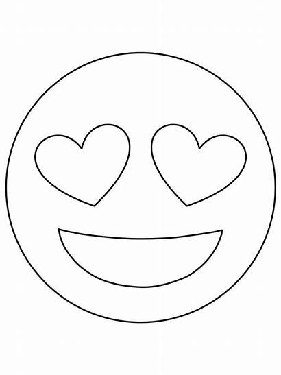 Emoji Coloring Pages Drawings Template Templates Face