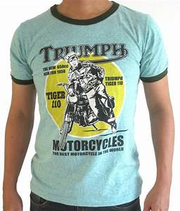 Vintage Triumph Motorcycles T-shirt Cafe Racer Design Thin ...