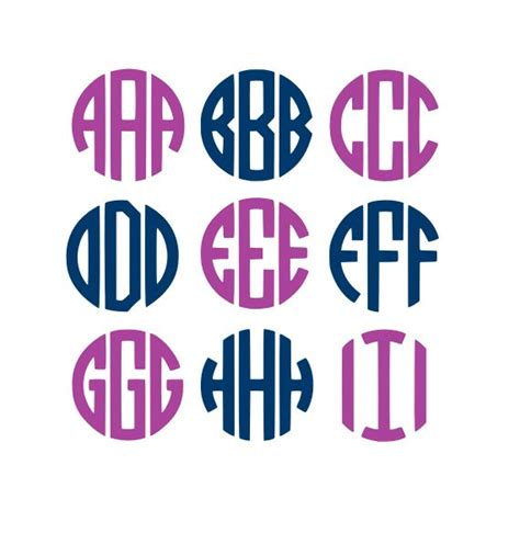 circle monogram svg svg files cricut fonts monogram fonts