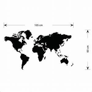Carte Du Monde Noir : carte du monde mappemonde noir stikeo ~ Teatrodelosmanantiales.com Idées de Décoration