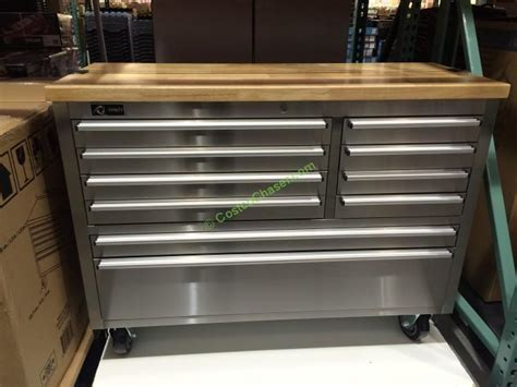 trinity  stainless steel rolling workbench costcochaser