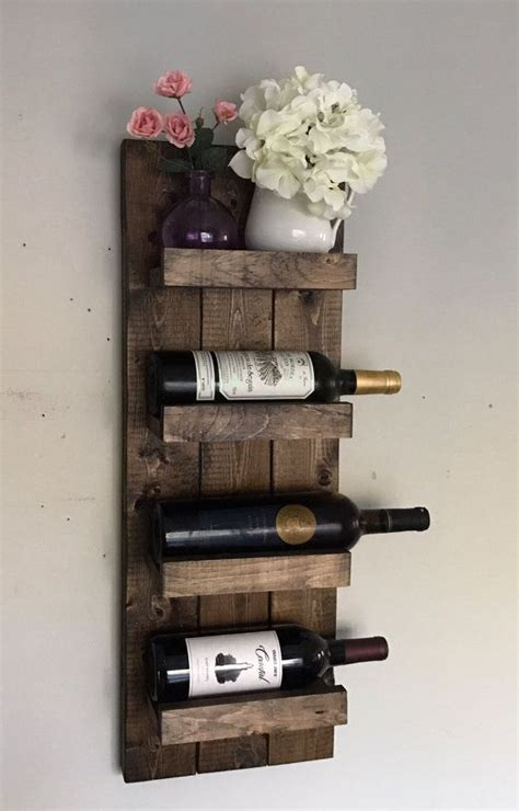 Wall Spice Holder by Rustic Wine Rack Spice Rack Wall Mounted Wine Bottle