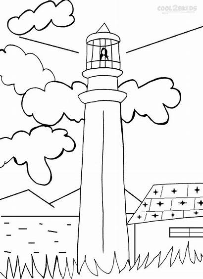 Lighthouse Coloring Pages Printable Colouring Lighthouses Template