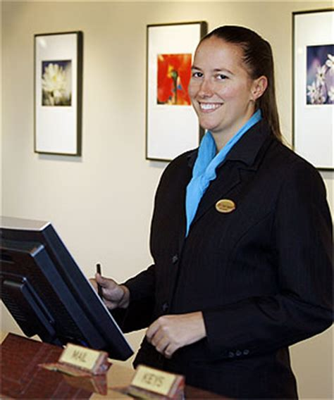 front desk manager salary inn hotel receptionist