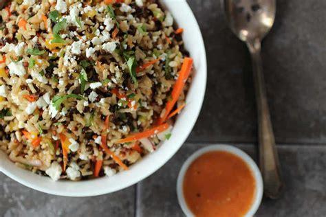 healthy multigrain salad  feta