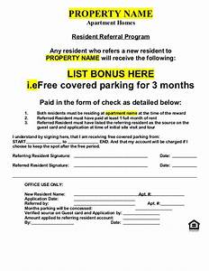 referral document template - resident referral form non cash