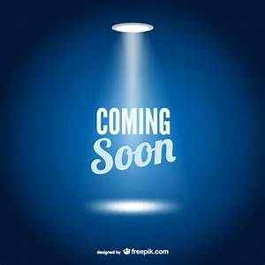 Coming Soon Web Page Template Vector