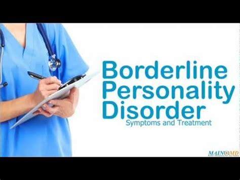 borderline personality disorder treatment  symptoms