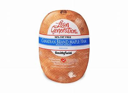 Deli Ham Meat Canadian Brand Lean Maple
