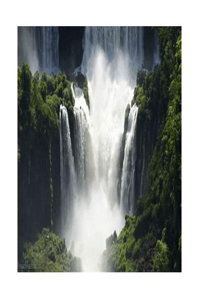 Falls Gifs Waterfalls Paisajes Natural Argentina Iguazu