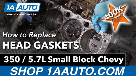 replace head gaskets     small block