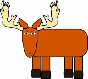 Cartoon Moose Clip Art at Clker.com - vector clip art ...