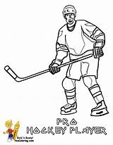 Hockey Player Coloring Nhl Sheets Boys Yescoloring Template Sports Players Trick Hat Templates sketch template