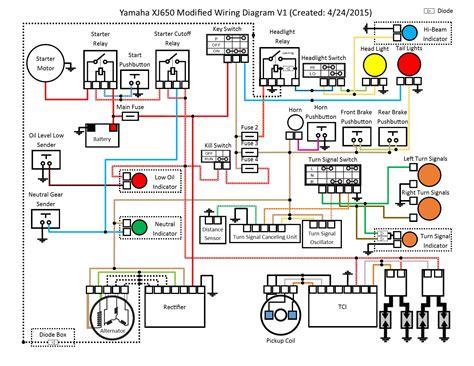 Modified Electrical Wiring Diagram Xjbikes Yamaha