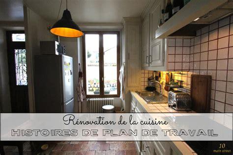 renovation plan de travail cuisine carrelé histoires de plan de travail dans une vieille cuisine