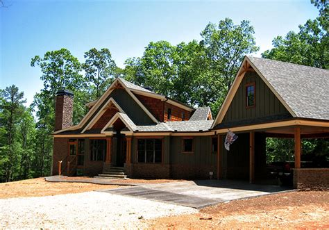 craftsman style lake house plan smoky mountain cottage crafstman rustic cottage house