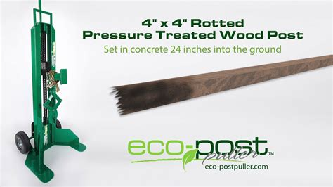 eco post puller rotted pressure treated wood post youtube
