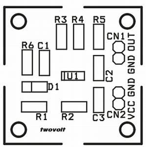 magnetic field sensor using ad22151 electronics lab With magneticfieldsensorpcbsilk electronicslab