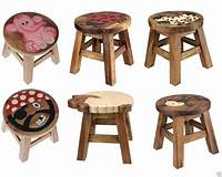 children s stools KIDS WOODEN STEP STOOL BROWN SOLID WOOD CHAIR SEAT HAND ...