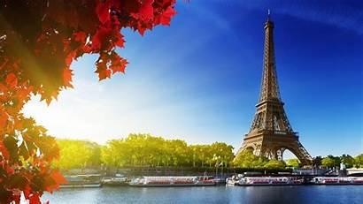 Paris Eiffel Tower France Places Autumn Desktop