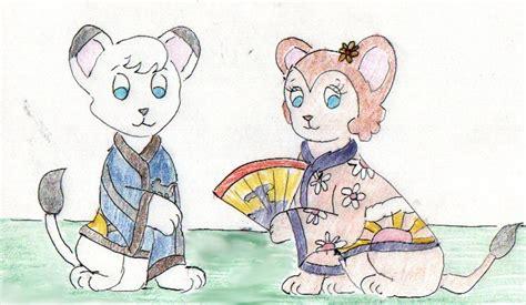 Kimba And Kitty In Kimonos By Hectorny On Deviantart