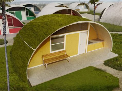 wild proposal  domed houses   inflated concrete wired