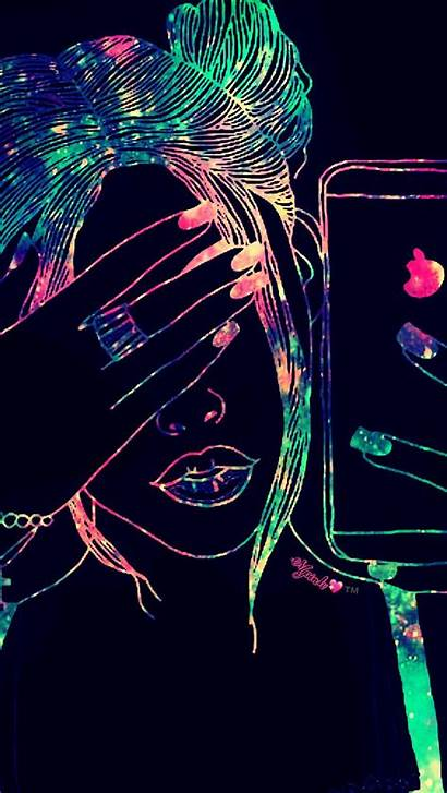 Girly Neon Cool Wallpapers Galaxy Backgrounds Wallpaperaccess