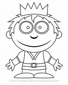 Drawing a prince cartoon