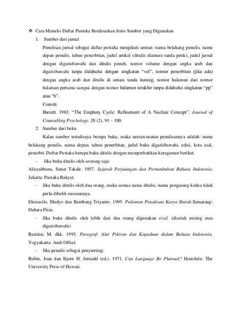Cara Menulis Kutipan dan Daftar Pustaka Karya Tulis Ilmiah