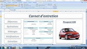 Carnet Entretien Peugeot 2008 : carnet d 39 entretien excel ~ Gottalentnigeria.com Avis de Voitures