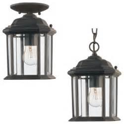sea gull lighting 60029 12 kent black outdoor hanging lantern transitional outdoor hanging