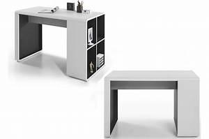 Bureau Design Blanc Gris Novomeuble