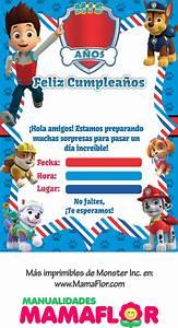 Imprimibles: Tarjeta e Invitaciones de Paw Patrol Patrulla Canina GRATIS Manualidades MamaFlor