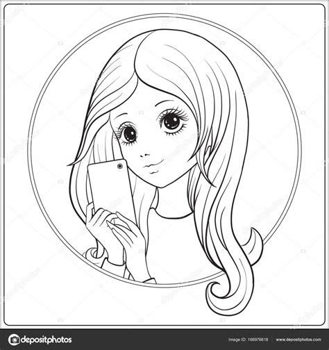 disegno da colorare   ritratto  una ragazza migliori pagine da colorare gratis