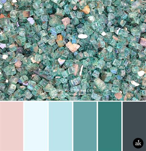 a glass inspired color palette dusty pink blue