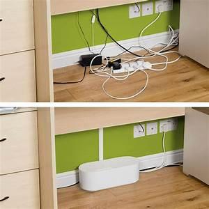 Kabel Am Schreibtisch Verstecken : d line kabelbox kabelmanagement box aus robustem strom isolierendem abs kunststoff gro ~ Sanjose-hotels-ca.com Haus und Dekorationen