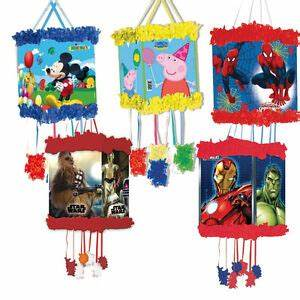 Character PULL STRING PINATA & Blindfold Mask (Birthday ...