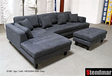 3 discount gray microfiber sectional sofa set with cheap 3pc design gray microfiber sectional sofa