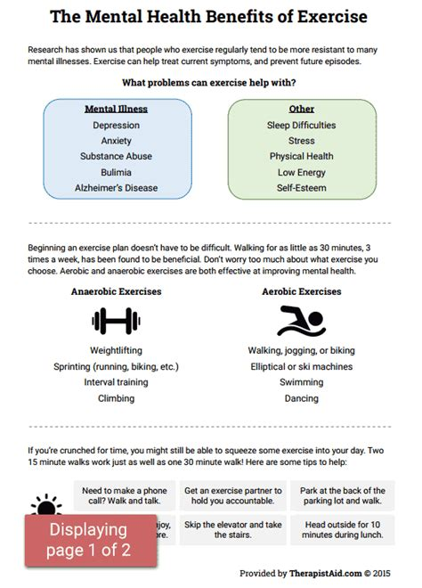 mental health benefits of exercise preview building