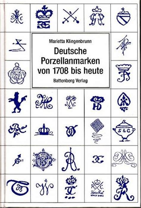 Porzellanmarken Stempel übersicht by Marietta Klingenbrunn Deutsche Porzellanmarken 1708