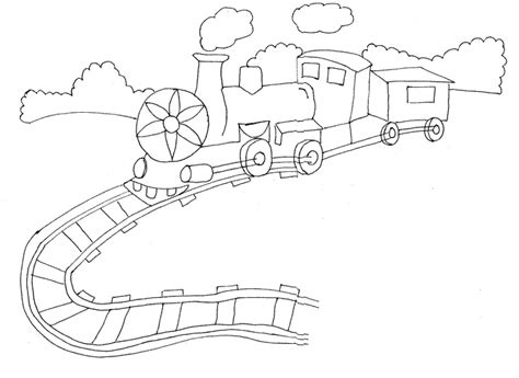 Train Tracks Coloring Pages - Democraciaejustica