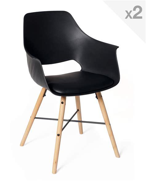 coussin de chaises lot de 2 chaises design scandinave avec coussin tao