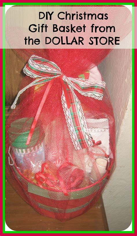 diy how to make christmas gift basket from the dollar