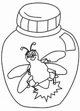Coloring Firefly Jar Pages Prince Charming Fireflies Template Bug Printable Getcolorings Getdrawings Open sketch template